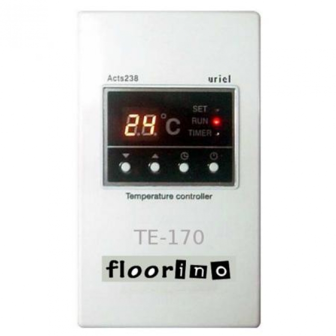 thermostat te 170 timer regler f r floorino heizung. Black Bedroom Furniture Sets. Home Design Ideas